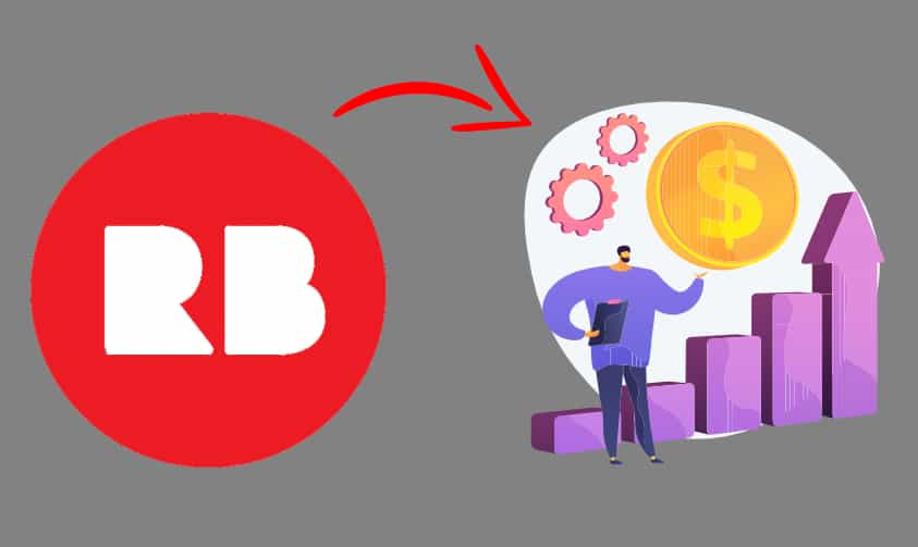 animation showing an increase in Redbubble sales growth
